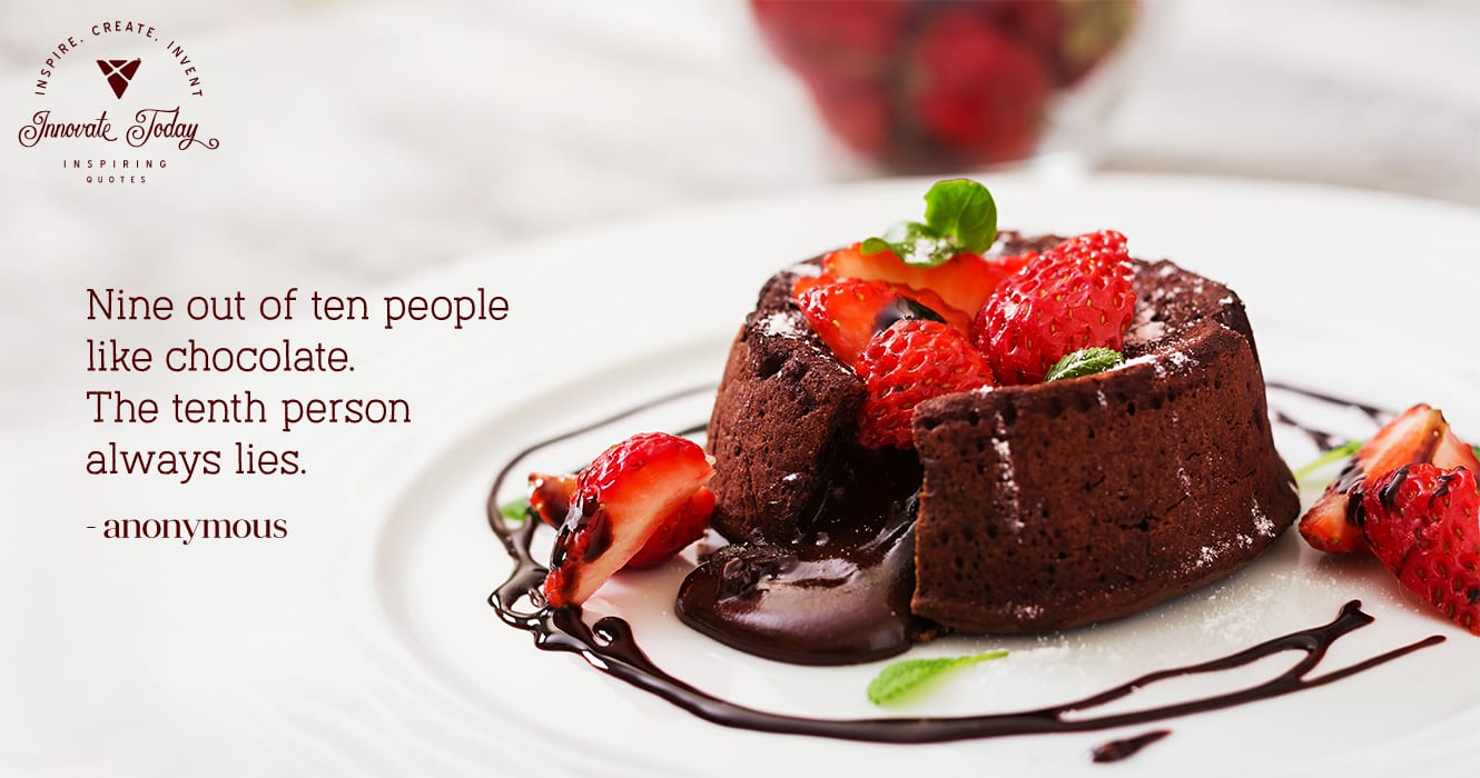 Nine out of ten people like chocolate. The tenth person always lies.