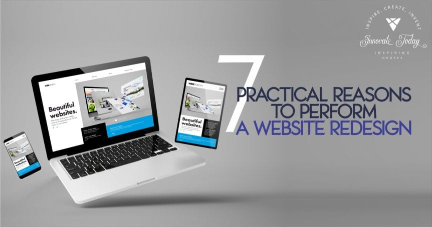 Seven Practical Reasons to perform a Website Redesign